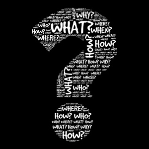 45028512 - question mark, question words vector concept