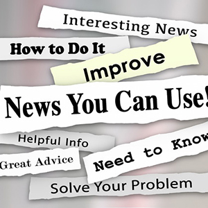 36435275 - news you can use words in torn newspaper headlines for articles, information or reporting that will help you with needed advice, tips or guidance